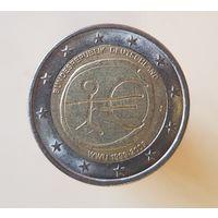 2 евро Германия 2009 J 10 лет Экономическому и Валютному союзу
