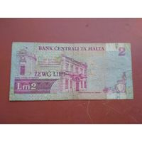 Банкнота 2 лиры Мальта 1967