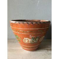 Горшок для цветов цветочный старинный глиняный СССР