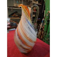 Цветное стекло. Кувшин, 21 см