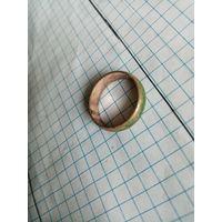 Кольцо с позолотой изнутри