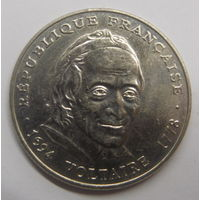Франция 5 франков 1994 г 300 лет со дня рождения Вальтера