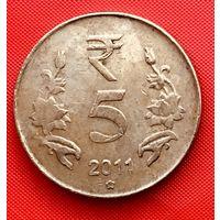 15-06 Индия, 5 рупий 2011 г. (Хайдарабад)