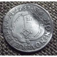 Бремен. 2 грота(1\36 талера) 1739