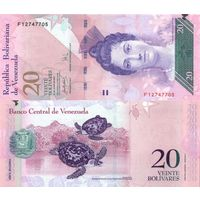 Венесуэла 20 боливаров образца 2007 года UNC p91