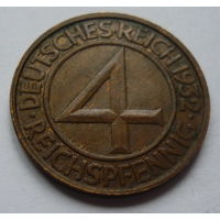 Германия. 4 пфеннига 1932г