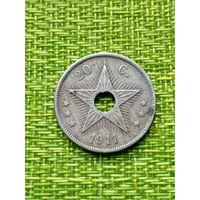 Бельгийское Конго 20 цент 1911 г.