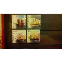 Корабли, флот, транспорт, парусники, марки, Австралия, 1999
