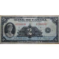 Канада 2$ 1935г. QUEEN MARY #P40 -редкость-