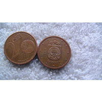 Латвия 2 евроцента 2014г. распродажа