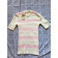 Джемпер 48 свитер Макаронка Очень модная в 80-е гг Болгария времён СССР Новая