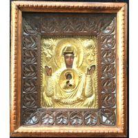 """Икона """"Богоматерь Знамение"""". Егор Сотников, 1861 год. Санкт-Петербург"""