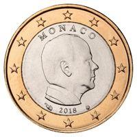 1 евро 2018 Монако UNC из ролла
