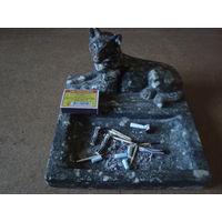 Пепельница из 50х(мраморная крошка,вес около 2кг),от начальника-редкая