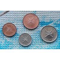 Оман набор монет  5, 10, 25, 50 байс, UNC.