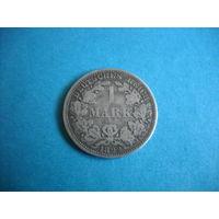 """Германия 1 марка 1892 г. """"A"""""""