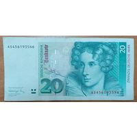 20 марок 1991 года - ФРГ (Р39а)