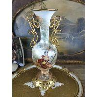 Большая ваза фарфор золочение ручная роспись
