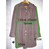 Куртка с капюшоном на замке, удлиненная, р.50-52