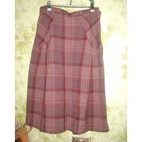 Шерстяная юбка с карманами, р.46