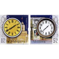 Молдова 2018 г Часы Кишинёва (2 марки) *