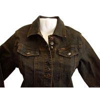 Модная джинсовая куртка-пиджак стрейч (тянется), абсолютно новая (с этикетками, упаковкой и подарочным пакетом в комплекте), размеры от 42 (S) до 50 (XL), цвет - болотно-коричневый, состав: 70% хлопок
