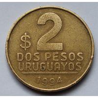 Уругвай, 2 песо 1994 г.