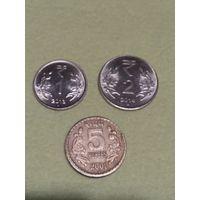 Индия набор 3 монеты
