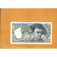 Франция  50 франков  1991г. унс
