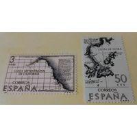 Испания, карта, море, путешествия, распродажа