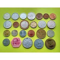 Лот 2 иностранных монет без повторов.
