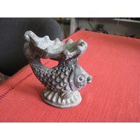 Пепельница-рыбка, силумин, 13 см.