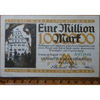 1 миллион марок 1923г. Лейпциг