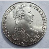 Австрия, талер, 1780, рестрайк,  серебро