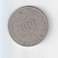 100 франков 1971 года Западная Африка