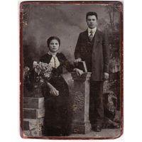 Фото мужчины и женщины. До 1917 г. Могилев. Фотография Иванова