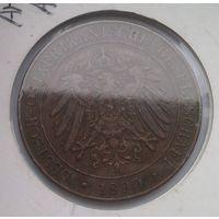 НЕМЕЦКАЯ Восточная АФРИКА 1 песа 1890 год