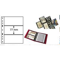 Лист на 3 боны (банкноты, купюры) 3S (черный) Leuchtturm, формат ОПТИМА