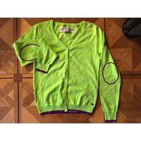 Кардиган кофта Tom Tailor 44-46 салатовый кантик лиловый Состав хлопок