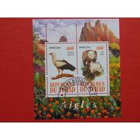 Чад 2010г. Птицы.