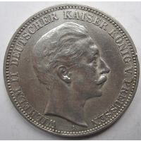 Германия. 3 марки 1910. Пруссия. Серебро. 431