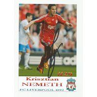 Krisztian Nemeth(Liverpool, Англия). Живой автограф на фотографии #1