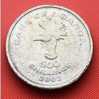 125-05 Уганда, 500 шиллингов 2003 г.