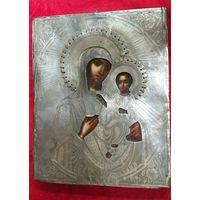 Икона Иверская Божия Матерь.1872 год.Оклад Серебро-84 Пробы!С Рубля! Без МНЦ!