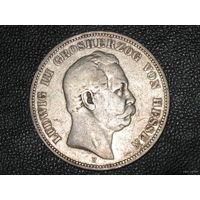 5 марок 1875 Гессен.