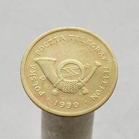 Польский телефонный жетон 1990 С десять тарифных единиц