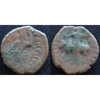 YS: Индия, династия Кушанов, медная монета, I-II век
