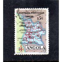 Ангола. Ми-394. Карта Анголы.1955.