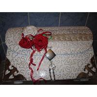Подарочная свадебная большая коробка ручной работы
