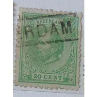 Король Уильям III. Нидерланды.  Дата выпуска:1884  !!!